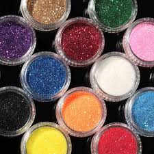 Hot Sale New 16 Mixed Colors Pigment Glitter Powder Mineral ...
