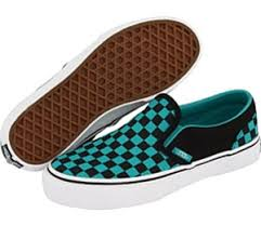 vans shoes blue and black. vans classic checkerboard slip-on (black/columbia blue) shoes blue and black