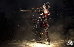 Wallpaper fire, red, flame, girl, sword ...