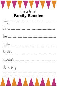 Printable Family Reunion Invitations Family Reunion Invitation Templates Ginnys Recipes Tips