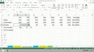Year To Date Paycheck Calculator Excel 2013 Tutorial Calculating The Year To Date Profits Lynda Com