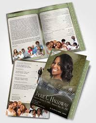 Funeral Pamphlet Templates Impressive 48 Page Graduated Step Fold Funeral Program Template Brochure