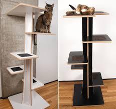modern design cat furniture. Acacia Baobab Modern Cat Trees From Square Habitat Hauspanther Towers Design Furniture E