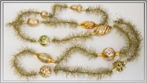 Exklusive Tinselkette 10 Glasteile Gemischt Gold 150 Cm Nostalgischer Christbaumschmuck Liebevoll V