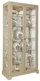 Art Deco walnut display cabinet with glass shelves and lights ...