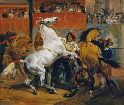 the start of the race of the riderless horses horace vernet the start of the race of the riderless horses