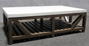 Slatted Coffee Table Westend Limestone Top And Slatted Base Coffee Table Mecox Gardens
