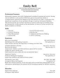 Skin Care Resume Self Emloyed Thru Mary Kay Cosmetics Skin Care Consultant Resume