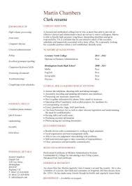 no work experience clerk resume ...