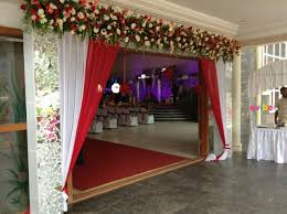 Special entrance flower decoration for housewarming, gruhapravesam in  Bangalore | Evibe.in