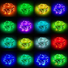 Multi Color Changing Led Lights Rtgs 80 Multi Color Changing Led String Lights Usb Powered On 24 Feet Silver Color Wire With Remote Control 16 Colors Timer 4 Functions And Dimmer