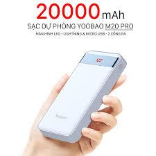 ⚡Giá Gốc⚡ Sạc Dự Phòng Yoobao M20 Pro Có Đèn Led Hiện Thị Dung Lượng,Chính  Hãng Yoobao Cao cấp, Giá tháng 10/2020