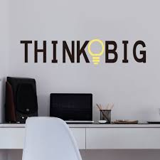wall decal for office. Think Big Quotes Vinyl Wall Stickers Living Room Decorative Decal - Decals For Office E