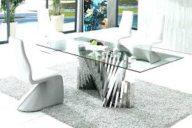round modern glass dining table set modern glass top dining