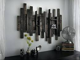 black metal wall art rustic metal wall art rectangle black stained reclaimed wooden stick decoration with