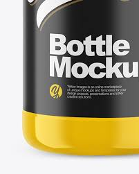 Iphone, ipad, macbook, imac, apple watch, billboards & signs. 1l Glossy Plastic Bottle Mockup In Bottle Mockups On Yellow Images Object Mockups