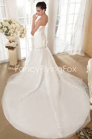 ivory shallow sweetheart trumpet fishtail mermaid wedding gowns