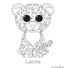 Print Leona Beanie Boo Coloring Pages