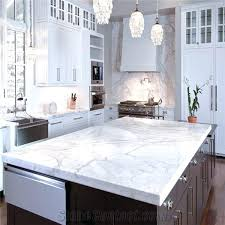 marble kitchen bench top white effect worktops uk