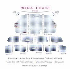 Kaye Playhouse Seating Chart Imperial Theatre Broadway Direct