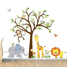 kids room wall decal safari animal decal nursery wall decal design ideas of safari wall stickers on safari themed nursery wall art with kids room wall decal safari animal decal nursery wall decal design