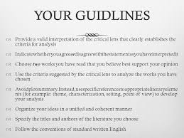 goals learn how to write a critical lens essay introductions  4 your guidlinesyour