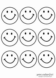 Kleurplaat Smiley Woyaoluinfo