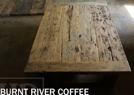 36 x 48 coffee table bottom 1 grainery board shelf straight 4 x 4 rustic barn windbrace beam legs reclaimed hemlock threshing floor 2 top