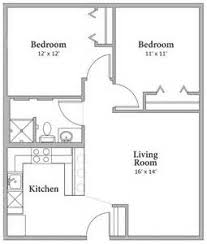 Square Foot House Plans  Posted By Cons At Wednesday  August     Bedroom Apartment Floor Plan Sqfeet