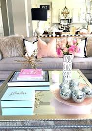 blush tones living room coffee table decor apartment small pink black white size tables