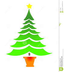 Simple Christmas Tree With Star Stock Illustration Illustration Of
