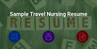 Resume Free Template Sample Travel Nursing Resume - Free Template » BluePipes Blog