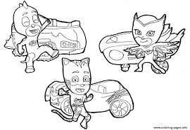 Let create the cute coloring books for your little kids. Catboy Owlette And Gekko Pj Masks Cars Disney Coloring Pages Printable