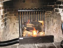 wood burning fireplace heat exchanger