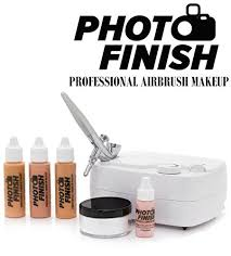 amazon photo finish professional airbrush cosmetic makeup system kit chose shades light um or tan 3pc foundation set chose matte or luminous