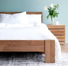 wood bed frame king. Teak Bed Frame | Azur - Singapore King Size Wood