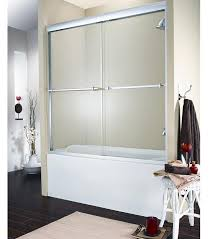fleurco banyo verona frameless 2 panel sliding bath tub door