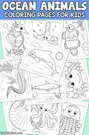 Pick up your colored pencils and start coloring right now! Ocean Animals Coloring Pages For Kids Itsybitsyfun Com