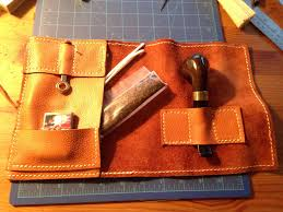 homemade leather pipe roll constructive criticism welcome