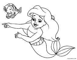 Coloring Pictures Of Mermaids Baby Mermaid Coloring Pages Printable