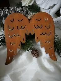 Details Zu Edelrost Engelsflügel Deko Flügel Weihnachten Rost Shabby Christbaumschmuck
