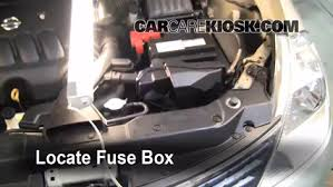 replace a fuse 2007 2012 nissan versa 2008 nissan versa s 1 8l locate engine fuse box and remove cover