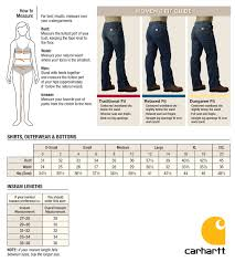Womens Jeans Size Chart Cabelas Sizing Charts Carhartt Womens