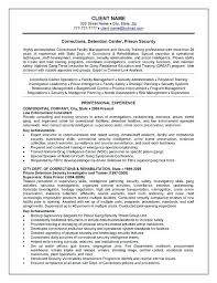Intelligence Officer Resume Example Best Of Correctional Officer Resume Corrections Officer Resume Example