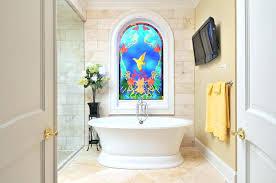 glass for bathroom windows bathroom windows stained glass window in bathroom bathroom no windows design ideas