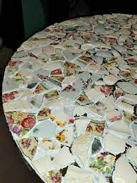 how to make a mosaic table made from