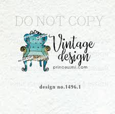 vintage furniture logo. 1254-6 Furniture Logo, Vintage Chair Premade Logo Design, Hand Drawn Illustration, Home Decor, Watermark, Business C