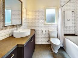 Elegant White Subway Tile Bathroom All Home Decorations