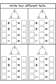 Fact Family Worksheets Kindergarten - Everylev Elofs
