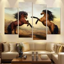 running horses framed canvas wall art